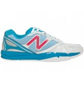 New Balance WN1600B2 Womens White/Blue Netball shoes