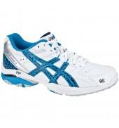 ASICS Gel Academy 5 Netball Shoe (0155 White/Navy/Aussie Sky)