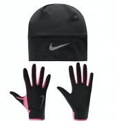 Nike Womens Run Dry Hat & Glove Set
