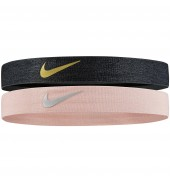 Nike Shine Headbands 2pk Black/Gold/Pink/Silver O/S