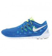 Nike Free 5.0 Mens Running Shoe Blue/White