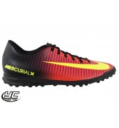 Nike Mercurial Vortex III TF Football Shoe (831971-870 Total Crimson)