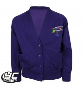 Pontprennau Primary Purple Cardigan