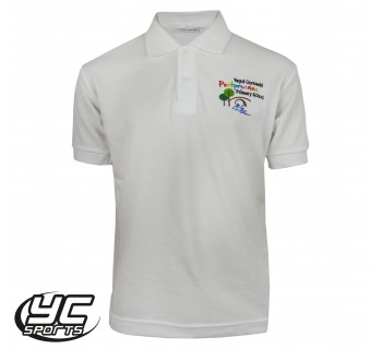 Pontprennau Primary School White Polo