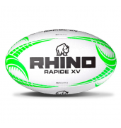 Rhino Rapide XV Rugby Ball WHITE S5