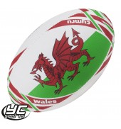 Gilbert RWC 2015 Wales Flag Rugby Ball
