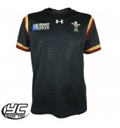 Under Armour WRU Wales Youth Supporter Jersey (Anthracite/White, World Cup, 2015
