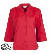 Cardiff High School 3/4 Sleeve Red Blouse