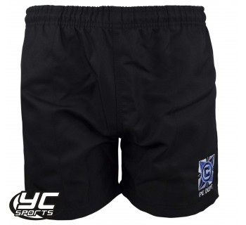 Cantonian High School Black Rugby Shorts