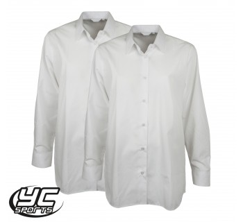 Cardiff 6th Form Twinpack Girls White Blouse