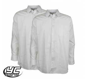 Cardiff 6th Form Twinpack Boys White Shirt