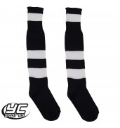 Hoop Football Sock Black/White