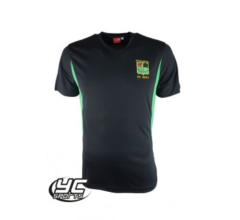 2017 Fitzalan High School PE T shirt BLACK/EMERALD