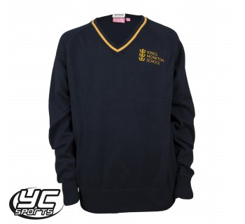 Kings Monkton Girls Navy/Gold Fitted Jumper
