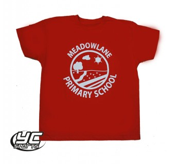 Meadowlane Primary School Red PE Tshirt