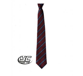 Radyr Comprehensive School Tie MAROON/SKY