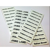 Iron on labels x 25 - ADD NAME