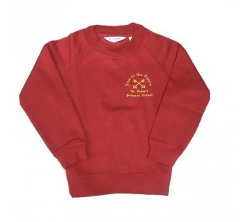 St Peters Primary Sweatshirt Red