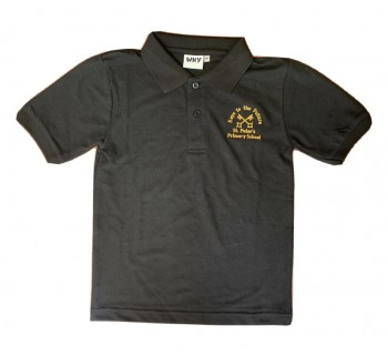 St Peters Primary Black Polo (Year 6 Only)