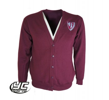 St. Phillip Evans RC Primary School Cardigan BURGUNDY
