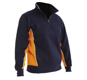 Stanwell Zip Sports Top Navy/Amber