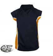 Stanwell PE Polo Girls Navy/Amber