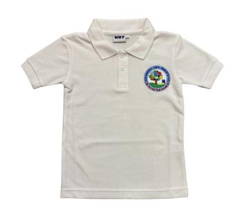 Coety Primary School Polo - White