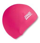 Zoggs Junior Silicone Swim Cap (Pink)