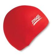Zoggs Junior Silicone Swim Cap (Red)