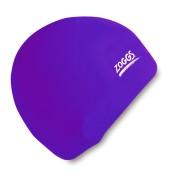 Zoggs Junior Silicone Swim Cap (Purple)