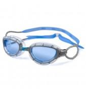 Zoggs Predator Swimming Goggles (Silver/Blue/White)