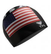 LCSU2 USA SILICONE SWIM CAP 001 BLACK O/S