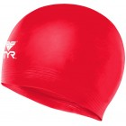 LCS Wrinkle-free silicone swim cap 610 RED O/S