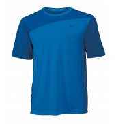 Wilson Colourblock Crew Mens Court T-Shirt (New Blue/Pool, 2015)
