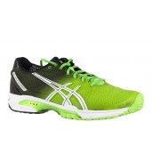 ASICS Gel Solution Speed 2 Mens Tennis Shoe (8590 Flash Green/White/Black, 2015)