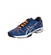 ASICS Gel Solution Speed 2 Tennis Shoes (Blue/Flash Orange/Silver)