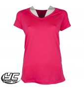 UA HeatGear Womens Armour SS T-Shirt (1269102-962 HYR/MSV)