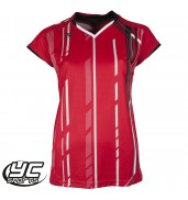 Yonex 20235 Ladies Cap Sleeve Tournament Shirt (Red, 2015)
