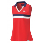 Yonex 75th Sleeveless Polo Shirt Womens 20627AEX Ruby Red