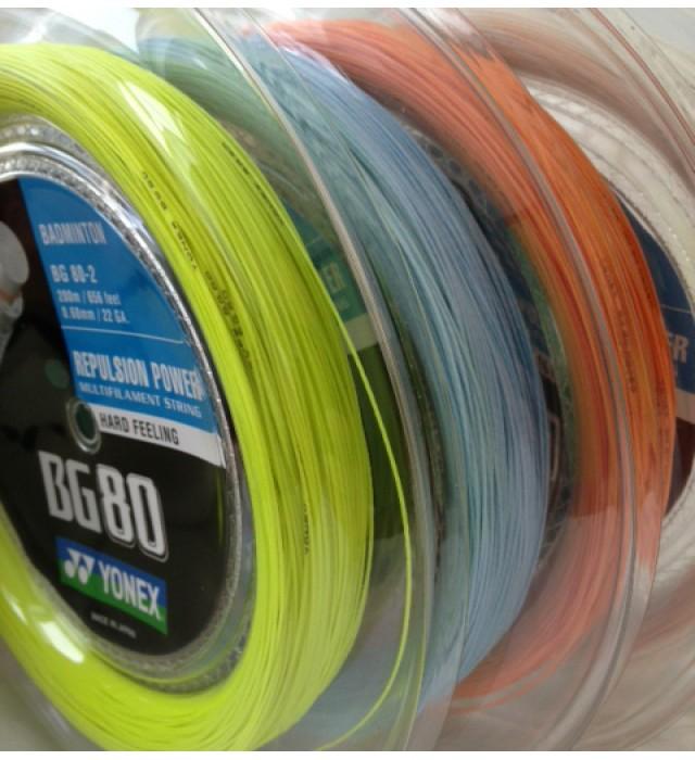 Yonex BG 80 Power White / Orange reel