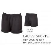 2017 Yonex Women's Short W YS3000 BLACK