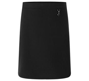Lycra Heart Skirt Black