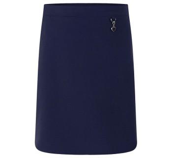 Lycra Heart Skirt Navy