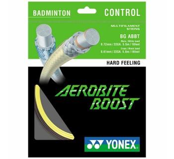 Yonex BG AEROBITE BOOST 10M Set Badminton String DARK GREY/YELLOW