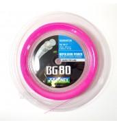 YONEX BG 80 Badminton String Neon Pink - 0.68MM 200M REEL