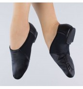 1st Position Split Sole Stretch Jazz Shoes BLACK