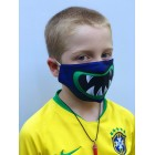 Junior Blue Monster Face Mask