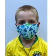 Junior Dinosaur Face Mask
