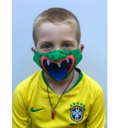 Junior Green Monster Face Mask