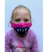 Junior Pink Monster Face Mask